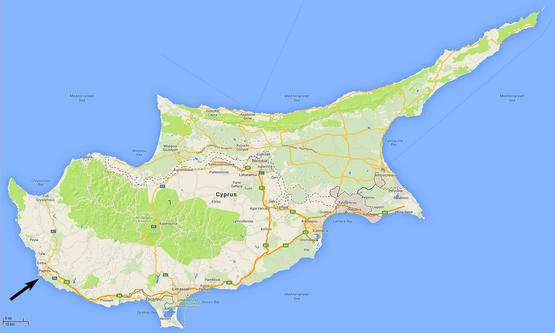 Cypern Lufthavne Kort Kort Over Cypern Viser Lufthavne Det